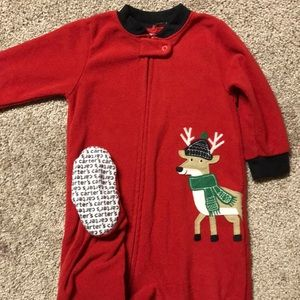 Carter's Christmas Zip Footie PJs